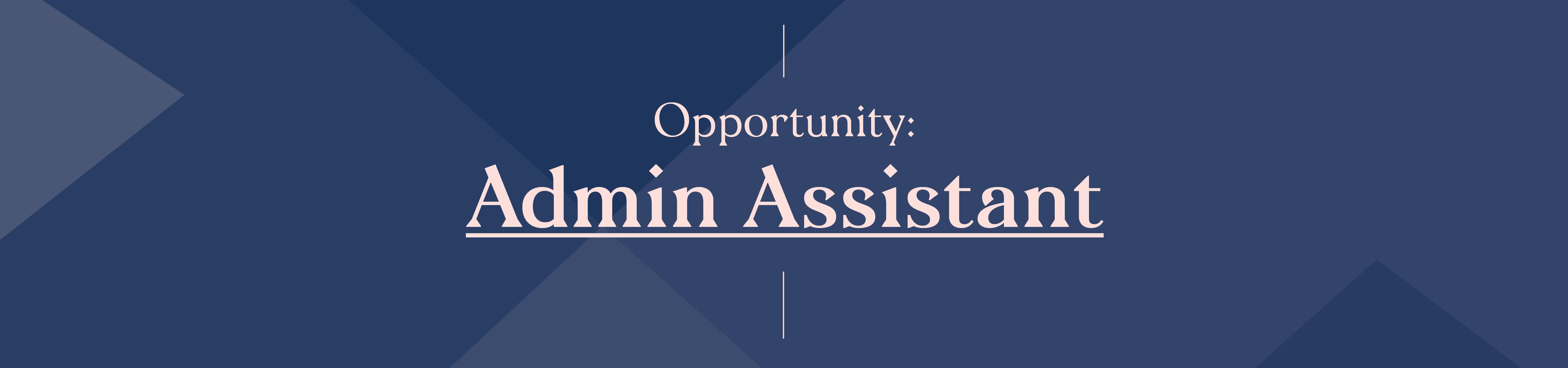 Job Banners_Admin Assistant