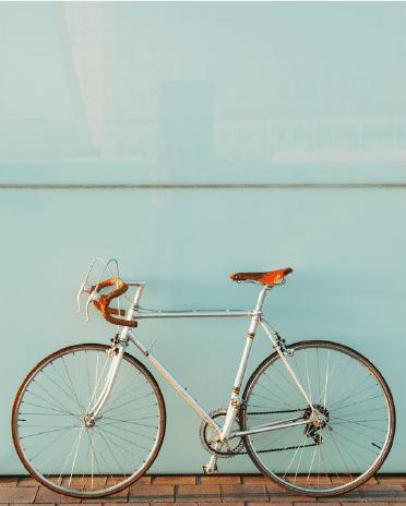 Bike on blue background