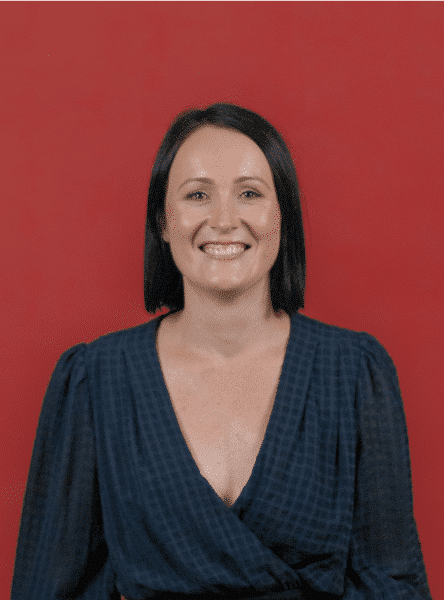 Louise Harvey Clinical Psychologist on a red background